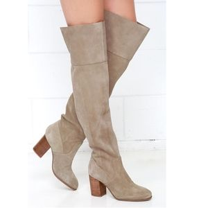 NWOT JESSICA SIMPSON EBYY Suede Over-the-Knee Boot
